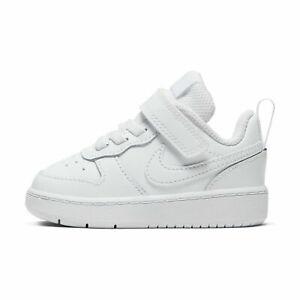 Nike Court Borough Low 2 (TDV) White/White BQ5453 100 Toddler Size Free Shipping