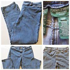 """Ralph Lauren Denim Jeans Straight Leg Sz 12P Petite Waist 34"""" Double Snap Pants"""