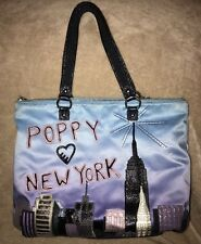 Coach Poppy Destination New York NYC Tote Shopper 15888 Ltd. Edition RARE Blue