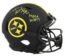 Steelers T.J. Watt Mega Watt Signed Eclipse Proline F/S Speed Helmet JSA Witness