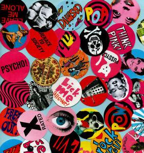 RETRO PIN BADGES. 3 for £3.49. 5 for £5.00.  60's, 70's, Pop Art.