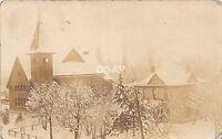 C84/ Silver Lake Minnesota Mn Real Photo RPPC Postcard 1917 Church Home