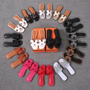 NEW Women's Sandals Flat slippers Beach Shoes Outdoor Shoe Flip-flops EU34-EU42