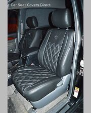 Toyota Land Cruiser Tailored Waterproof Diamond Quilted Seat Covers fronts 2007+