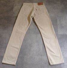 LEVI'S 501 JEANS BEIGE SIZE 29 X 32 RED TAB VGC SEE DESCRIPTION MADE IN UK