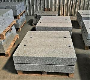 Blockstufe Granit allseits gesägt und Edelstahlkugel gestrahlt 15x35x100cm 6 Stk
