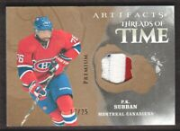 2019-20 Artifacts Hockey Threads of Time JERSEY Premium #TT-PS P.K. Subban 17/25