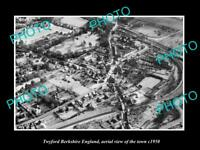 OLD LARGE HISTORIC PHOTO OF TWYFORD BERKSHIRE ENGLAND, TOWN AERIAL VIEW c1950 1