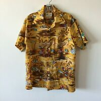 Vintage Hawaiian Waikiki 76 Shirt Aloha Fish Men's Small S Flaw Note