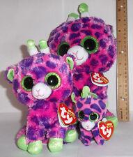 3 pc Lot Set 2017 Ty Gilbert the giraffe Beanie Boos buddy M sz & Reg Boo & Clip