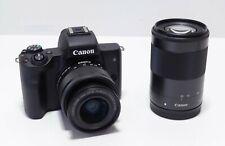 Canon EOS M50 Kit Bundled 15-45mm & 55-200mm IS STM Lenses (Black)
