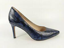 Clarks Narrative Blue Snakeprint Leather High Heel Court Shoes Uk 8 D Eu 42