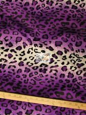 VELBOA FAUX FAKE FUR LEOPARD ANIMAL SHORT PILE FABRIC - Purple/White - SOLD BTY