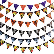 1X10 Flag Halloween Bunting Garland Decoration Paper Banner Party Prop