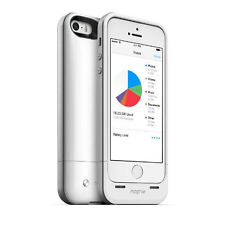 NEW MOPHIE SPACE PACK BATTERY CHARGER CASE 16GB STORAGE FOR IPHONE 5 5S - WHITE