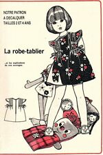 Patron robe tablier dans patrons de couture | Achetez sur eBay