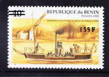 More details for benin 2000 michel 1232 1995 40fr ship surcharged 135fr unmounted mint cat eur200