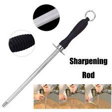 New listing 10 Inch Knife Sharpener Carbon Steel Sharpening Rod Plastic Handle Kitchen Tyeu