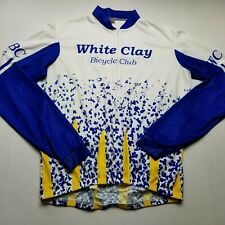Vomax White Clay Bicycle Club Mens Top sz Xl Athletic Shirt Long Sleeve K45