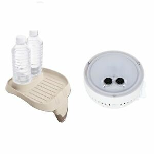 Intex PureSpa  Multi-Colored LED Light for a Hot Tub Cup Holder & Tray Accessory