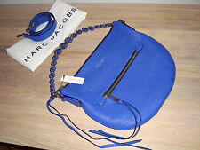 NWT €1070 MARC JACOBS Authentic Nomad Royal Blue Leather Shoulder/Hand Bag