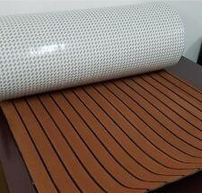 Marine Flooring Faux Teak EVA Foam Boat Decking Sheet 3M Self-Adhesive - Brown
