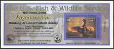 RW67A DUCK STAMP 2000 Canada Goose Hunting Permit CV $25 Self-Adhesive Mint MNH