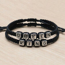 Couple Handmade Bracelets King And Queen His Hers Charm Bangle Gift Pop Bluelans