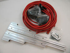 SB Chevy Polished Ball Milled Spark Plug Wire Looms W/ Red Taylor 8MM Plug Wires