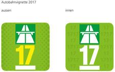 Autobahn Vignette Schweiz 2017