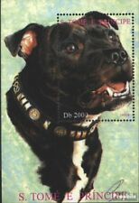 Sao Tome e Principe block335 (complete issue) used 1995 Dog