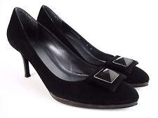 STUART WEITZMAN Women's Black Suede/Leather Pump Heel Shoes Size 8 N