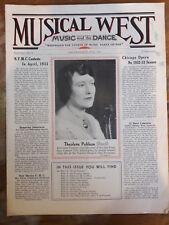 1932 MUSICAL WEST MAGAZINE THEOLENE POHLSON REED ALFRED HERTZ V FREDOWA 00099