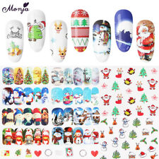 48 Sheet Christmas Snowflake 3D Nail Art Water Transfer Sticker Watermark Decals