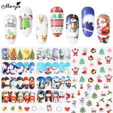 48 Sheet Christmas Snowflake 3D Nail Art Water Transfer Sticker Watermark Decals