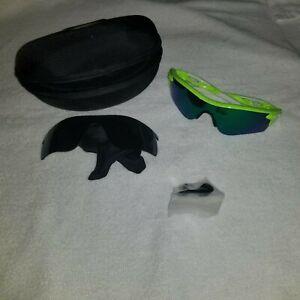 $150 Oakley Radarlock Fingerprint Retina Burn 009181-47 Jade Iridium + Gray lens