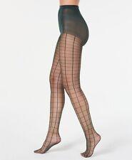 Inc Green Windowpane Tights Sheer High Waist Women's Size M/L Trendy