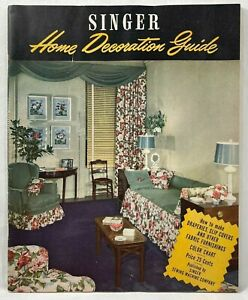 1947 Vintage Singer Home Decoration Guide How To Make Home Furnishings Sew 9484