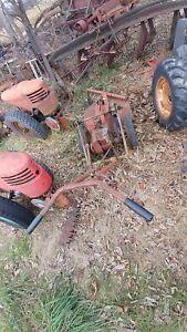 david bradley walk behind tractor brush rotary mower