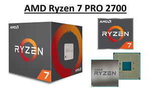 AMD Ryzen 7 PRO 2700 Octa Core Processor 3.2 - 4.1 GHz, Socket AM4, 65W CPU