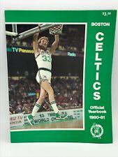 1980-81 Boston Celtics Yearbooks Bird Parish McHale Great Condition!!!