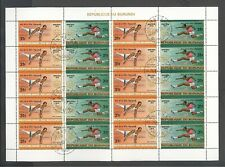BURUNDI 1976 OLYMPIC MONTREAL 7 SHEETS OF 20 STAMPS -10 COMLETE SET - CV$168