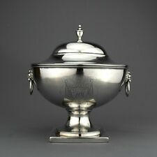 Antique Irish Georgian Solid Sterling Silver Covered Sauce Tureen. Dublin, 1828.