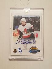 14-15 Upper Deck Jason Spezza /5 Auto Priority Signings Young Guns 2014