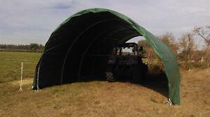 Rundbogenzelt Weidezelt Zelt 6,1m B x 9,15mL x 3,66mH Rundbogenhalle PVC Angebot