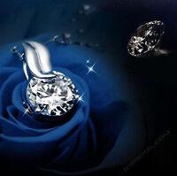 Colgante Plata de ley 925 Plateado Para Cadena de Plata Joya Diamante Mujer