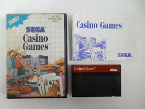 Casino Games für Sega Master System - PAL - OVP - CIB - Komplett !