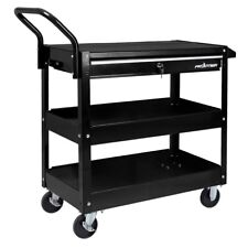 Garage Tool Storage Utility Cart 37 in. 1 Drawer Heavy Duty Rolling Steel Black
