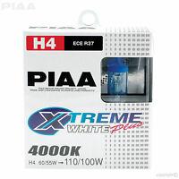 HE-303 PIAA H4 BULBS XTREME WHITE PLUS 4000K 12V 60/55w HIGH PERFORMANCE HALOGEN
