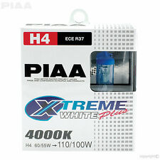 HE-303 PIAA H4 BULBS XTREME WHITE PLUS 4000K 12V 60/55w HIGH PERFORMANCE HALOGEN